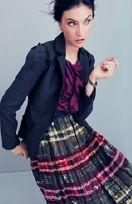 printed skirt + blazer