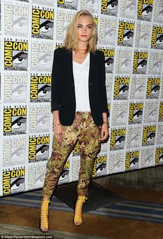Short hair don't care:Cara Delevingne unveiled a new shorter 'do as she stepped out at Comic-Con in San Diego, California, on Thursday to promote new filmValerian and The City Of A Thousand Planets