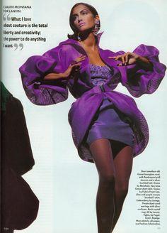 """The Medium, The Message"" Vogue UK April 1991 Yasmeen Ghauri in Lanvin"