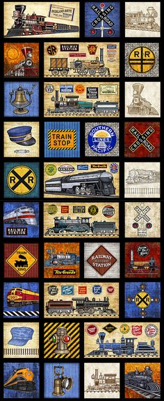 Train fabric craft ideas pinterest fabrics sewing for Fabric with trains pattern