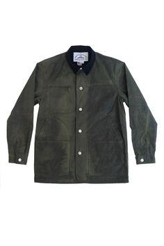 Green Waxed Canvas Riding Jacket Knickerbocker Manufacturing Company