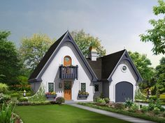 Cotswold Cottage English Country House Plan - #ALP-09KH