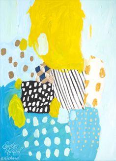 """Eternal Optimist, 2012, Mixed Media on Canvas, 12"""" x 16"""" by Emily Rickard"""