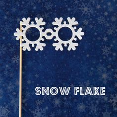 Photobooth prop Snowflake glasses on a stick by KittyDuneCuts, $2.00