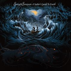 """Album cover for Sturghill Simpson's """"A Sailor's Guide To Earth"""" - love this design."""