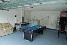 Another garage which is turned into a play room. This one is not as elaborate but it does have a ping pong table and an air hockey machine.