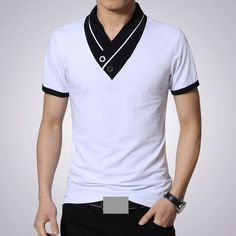 Men's V Neck T-Shirt Buy trending men t-shirt from our store and get off. You will not find this t-shirts in another store, so grab this Limited Time Discount Now! T Shirt Polo, Mens Polo T Shirts, Tee Shirt Homme, Mens Tees, Mens Fashion Suits, Sport Fashion, Style Costume Homme, Camisa Polo, Mens Clothing Styles