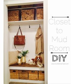 Pin It! Anyone else have inspiration strike them and you just HAVE to get started on a project immediately? Mudroom, Diy Tutorial, New Homes, Woodworking, Diy Projects, Closet, Decorations, Furniture, Home Decor