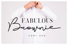 Brownie Font Duo by Factory738 on @creativemarket