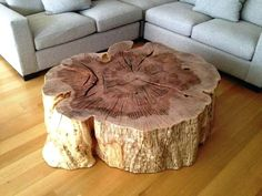 Organic wood stump coffee table by Vanillawood. Diy Table, Wood Table, Tree Stump Coffee Table, Trunk Table, Wood Stumps, Into The Woods, Log Furniture, Reclaimed Furniture, Raw Wood