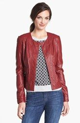 KUT from the Kloth Faux Leather Snap Front Jacket