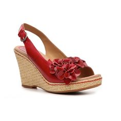 b.o.c. Born Concept Women's Hotsky Wedge Sandal - Red, found on polyvore.com