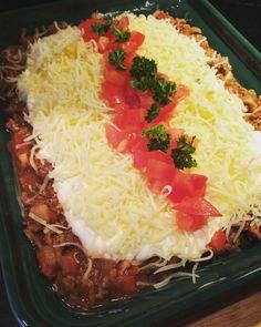 Hjemme hos meg denne uken har vi «Grateng-uke» :) Så her har dere min variant på texmex grateng med nydelig taco krydder fra Cemo: 2 gule løk 2 hvitløksbåter 500 gr. kjøttdeig 5-6 ss CE…