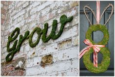 With Easter/Spring coming up, this oversized moss letter tutorial is a great idea for your retail or window displays.