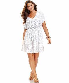 552f128255e J Valdi Plus Size Burnout Dress Cover Up Plus Size Swimwear