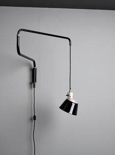 Heinrich-Siegfried Bormann, Wall Lamp with Swivel-Arm, 1931. Bauhaus Dessau. Made by Körting & Mathiesen AG, Leipzig. Via ulrichfiedler