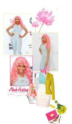 """Totally Fearless with Pink Friday Nicki Minaj"" by maria-maldonado ❤ liked on Polyvore"