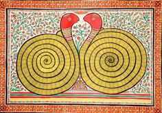 """Kundalini is the same principal as the Soter, the Savior Serpent of the Gnostics."""" The Psychology of Kundalini Yoga, Carl Jung. Carl Jung, Snake Painting, What Is Spirituality, Centre, Chakra Art, Snake Art, Madhubani Painting, Madhubani Art, Indian Folk Art"""