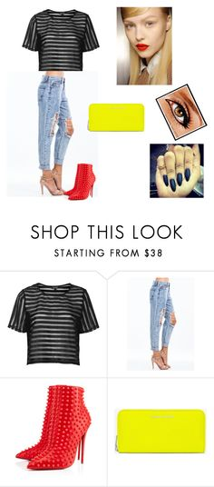 """""""Untitled #8"""" by starr-gorgeous ❤ liked on Polyvore featuring Topshop, Christian Louboutin and Yves Saint Laurent"""