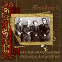 The Peripherals ~ Richly colored heritage digi page with a beautiful border.