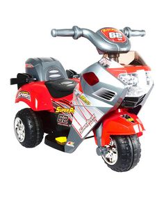 Love this Red Big Kids Ride-On Motorcycle by World of Wheels on #zulily! #zulilyfinds