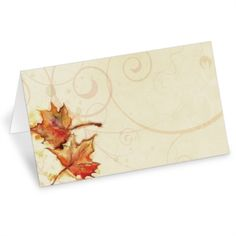 Vintage Fall Folded Place Cards | PaperDirect