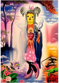 Angelo Volpe Land Of Ooo, Angelo, Good Buddy, Lowbrow Art, Pop Surrealism, Kitsch, Contemporary Art, Disney Characters, Fictional Characters