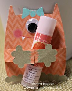 Monster Hugs Valentine Kit from Stampin' UP! whiles supplies last.
