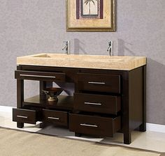 King Modern Double Trough Sink Bathroom Vanity Cabinet Bath - There are different styles nowadays of vanities which can be ut Trough Sink Bathroom, Rustic Bathroom Vanities, Bathroom Vanity Cabinets, Wooden Bathroom, Vanity Sink, Bathroom Interior, Bathroom Ideas, Bathroom Gallery, Kitchen Cabinets