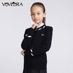 Girls Knitted Sweaters Kids Cotton Long sleeve Oneck Bow School uniform clothes Autumn&winter baby girls sweaters is part of Clothes Autumn School - Baby Girl Diaper Bags, Baby Girl Gifts, Persnickety Clothing, Uniform Clothes, Girls Winter Fashion, Baby Boy Haircuts, Baby Girl Sweaters, Baby Girl Winter, Boy Baby Shower Themes