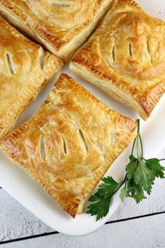 Sharing a recipe for English Sausage Pastries- savory baked dinner pastries filled with sausage, cheese, onion, apple and Dijon mustard. Delicious!