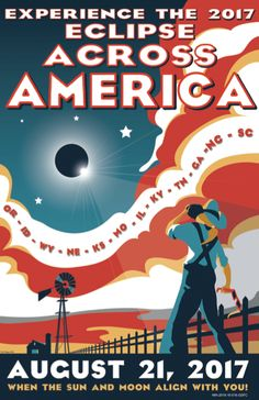 Eclipse New Design! Created by artist Tyler Nordgren Eclipse Across America posters are printed on 12 x semi-gloss cover stock. - New Design! Created by artist Tyler Nordgren Eclipse Across America posters are printed on 12 x semi-gloss cover stock. Nasa Eclipse, Solar Eclipse 2017, Urban Decay, Solar Eclipse Activity, Foto Sport, Free Poster Printables, Advantages Of Solar Energy, Total Eclipse, Solar Eclipse
