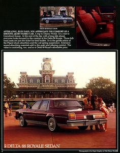 1984 Oldsmobile sales literature featuring the Delta 88 Royale Sedan and Coupe.