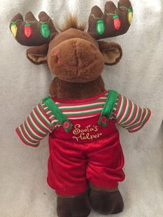 Borders Store Exclusive Build A Bear Workshop Hal Moose Holiday Christmas Plush #BuildABearWorkshop