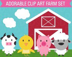 Clip Art Farm Animal Set product from SonyaDeHartDesign on TeachersNotebook.com