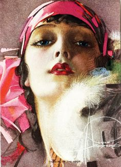 """""""Girl of the Hour"""" by Rolf Armstrong c. 1920's"""