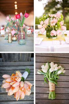 Flores de boda por temporada: tulipanes