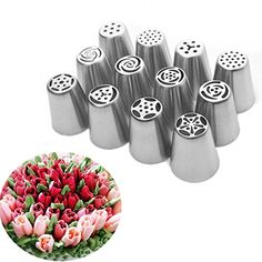 $15.99 for 12 PCS Russian Piping Nozzle Tip Set, One Step Instant Flower Tulip Rose. Get 15% off with code 'W362QKR6'