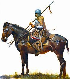 Roman cavalryman, 5th century, CE by Jose Daniel Cabrera Peña
