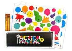 Action Painting Kit  Stickers for kids by SomosLosGomez