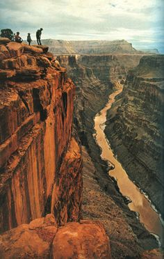 """Grand Canyon view from the top. When I was young-er, I hiked to the bottom. Then I bought a yellow t-shirt that said """"Go hike the canyon"""" with a hiking boot pictured on it. I wore that shirt until it was just threads. Places Around The World, Oh The Places You'll Go, Places To Travel, Places To Visit, Around The Worlds, Grand Canyon, Bryce Canyon, West Usa, Mountain Love"""