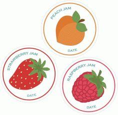 Silhouette Design Store - View Design #47859: fruit jam labels