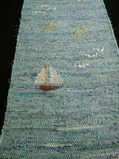 Traslöpare Loom Weaving, Tapestry Weaving, Hand Weaving, Rugs And Mats, Textiles, Rag Rugs, Weaving Projects, Geometric Rug, Rug Hooking