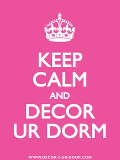 Keep Calm And Decor Ur Dorm! | Sorority and #Dorm Room Bedding