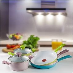 Tefal Seramik Pastel Serisi rengarenk modelleri ile mutfağınıza enerji getirecek.  Tefal #ANKAmall'da.