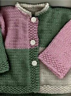 Layette Ensemble Rose Et Gris 3 Mois Bra - Diy Crafts Baby Cardigan Knitting Pattern Free, Kids Knitting Patterns, Baby Sweater Patterns, Baby Boy Knitting, Crochet Baby Cardigan, Knit Baby Sweaters, Knitted Baby Clothes, Knitting For Kids, Baby Patterns