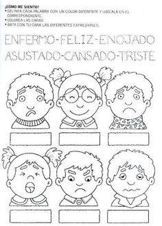 dibujo de expresiones de emociones y sentimientos para trabajar con niños de nivel inicial - Search