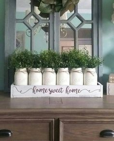There are methods to upgrade your mason jars. Coloring a mason jar is simple, and spraying is even simpler. Painting a mason jar is a simple course of action. The best thing about mason jars is they are essentially a… Continue Reading → Country Farmhouse Decor, Farmhouse Table, Rustic Decor, Modern Farmhouse, Mason Jar Centerpieces, Rustic Wedding Centerpieces, Pot Mason, Mason Jars, Home Interior