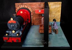 Platform 9 3/4! Harry Potter and the Philosopher's Stone by SabzCakes