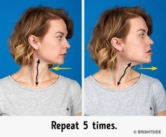 The better way to get rid of a double chin is generally through diet and exercise. If you would like to lose weight your chin area, there are several Facial Yoga, Facial Muscles, Reduce Double Chin, Double Chin Exercises, Face Exercises, Oval Faces, Tips Belleza, Eat Right, Reduce Weight
